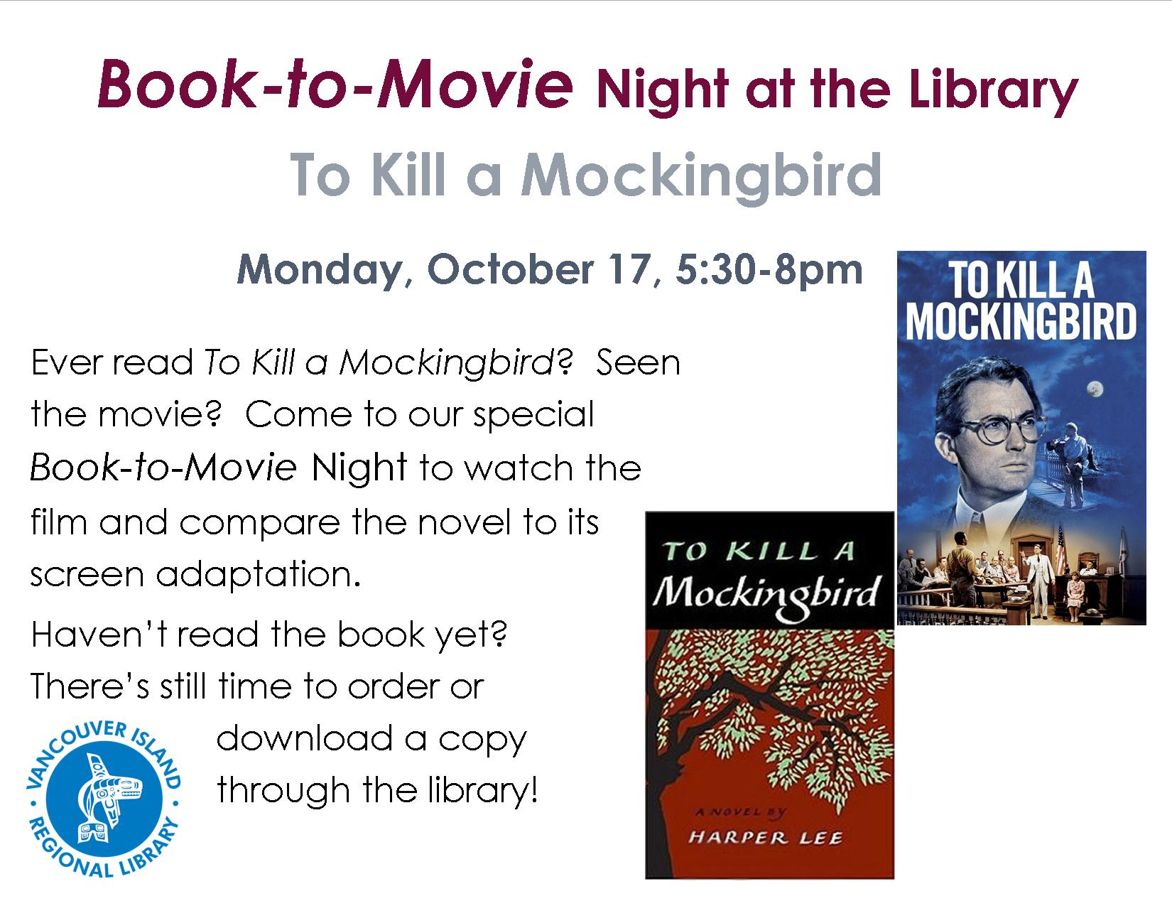 to kill a mockingbird compared with To kill a mockingbird - differences between movie and book there are usually differences in two different versions of something this can often be seen when a book is made into a movie there are many similarities and differences in the book and movie versions of to kill a mockingbird by harper lee.