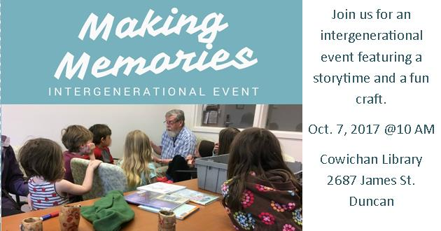 Making Memories Intergenerational Event