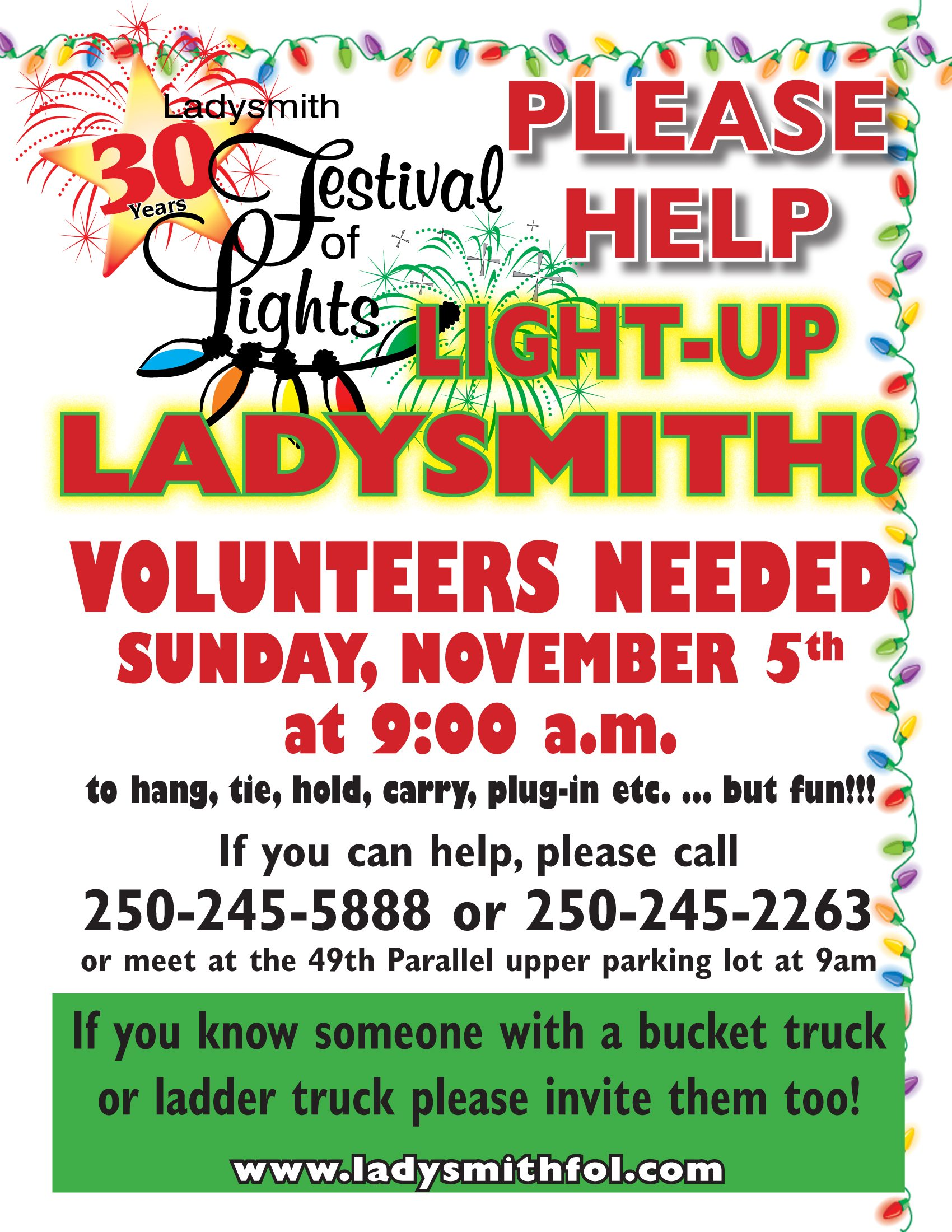 Ladysmith Festival of Lights community work party - My Cowichan ...